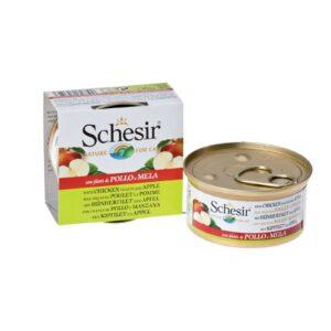 Schesir для кошек с цыпленком и яблоком 75 гр.