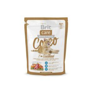 Brit Care Cat Cocco Gourmand сухой корм для взрослых кошек-гурманов с уткой и лососем