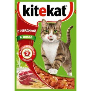 Kitekat корм для кошек в паучах с Говядиной в желе