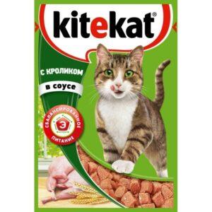 Kitekat корм для кошек в паучах с Кроликом в соусе