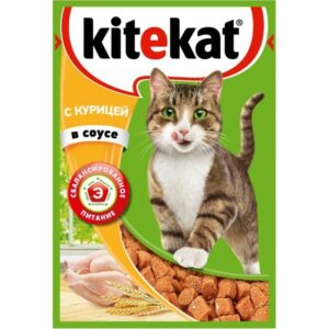 Kitekat корм для кошек в паучах с Курицей в соусе