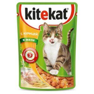Kitekat корм для кошек в паучах с Курицей в желе
