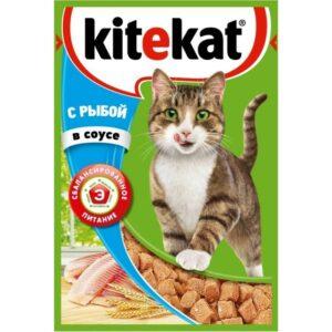 Kitekat корм для кошек в паучах с Рыбой в соусе