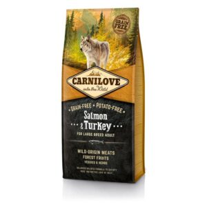 Сухой корм Carnilove Salmon & Turkey for Large Breed Adult Dogs «Лосось и индейка» для взрослых собак крупных пород беззерновой