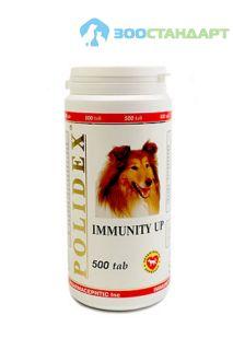 0993 POLIDEX Иммунити Ап повышеат иммунитет д/собак 500 таб.*8