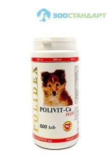 0962 POLIDEX Поливит кальций плюс улучшение роста костной ткани д/собак 500 таб.*8