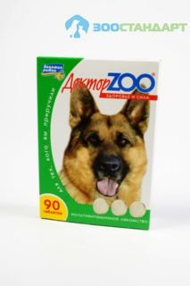 0251 ДОКТОР ЗОО витамины д/собак Здоровье и сила 90таб.*6