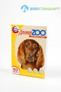 0254 ДОКТОР ЗОО витамины д/собак со вкусом Сыра 90таб.*6