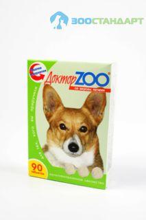 0258 ДОКТОР ЗОО витамины д/собак со вкусом Печени 90таб.*6