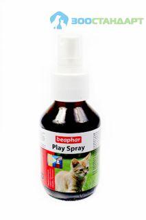 12526 Беафар Спрей для привлечения кошек к предметам Play-spray, 100 мл*6/36