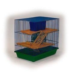 135 Клетка д/грызунов 3-х этажная комплект 36*24*38 (Зоомарк)