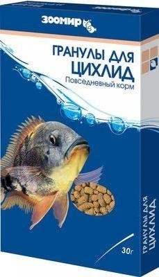 ЗООМИР  Корм для ЦИХЛИД гранулы 30гр