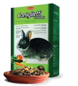PADOVAN Grandmix Coniglietti Основной корм д/Кроликов 850гр*12шт