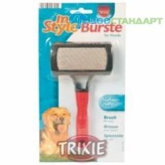 TRIXIE  Щетка д/пуделя с каплей, пластиковая ручка  (блистер)
