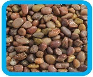 10104A/73954018 Грунт натуральный речная галька коричневый меланж, 5-10мм