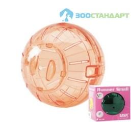 0197 SAVIC Игрушка д/мышей Шар прозрачный 12см (пластик)
