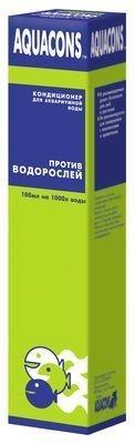 2607 ЗООМИР  Акваконс Против водорослей - кондиционер д/воды подавление роста водорослей 50мл*10