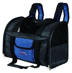 TRIXIE  Сумка-рюкзак для кошек и собак до 8кг нейлон черный/синий