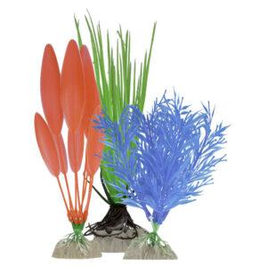 GloFish Набор Растений (S синее, М зеленое, L оранжевое)