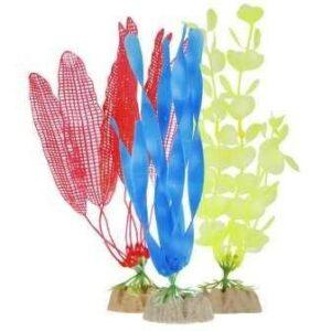 GloFish Набор Растений (S желтое, L оранжевое, L синее)