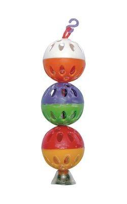 ДАРЭЛЛ Игрушка для попугая - шарики с колокольчиком