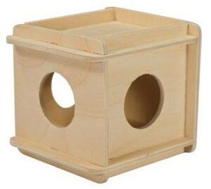 ДАРЭЛЛ Игрушка для грызунов кубик малый деревянный