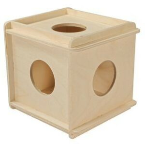 ДАРЭЛЛ Игрушка для грызунов кубик большой деревянный