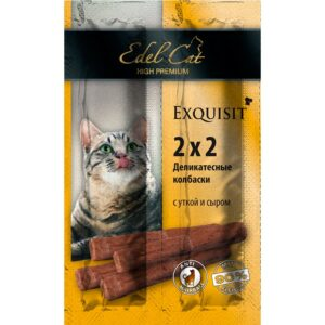 EDEL CAT колбаски для кошек мини утка сыр