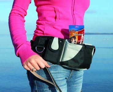 TRIXIE Сумка на пояс Baggy Belt, ремень  черный/серый