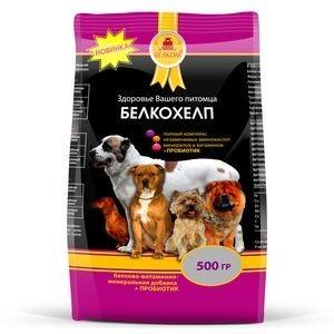 """40028 """"Белкохелп"""" - Белково-витаминная минеральная добавка д/собак, 500 гр *10 НОВИНКА"""