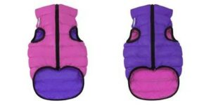 1585 AiryVest Курточка двухсторонняя ЭйриВест, размер S 35, розово-фиолетовая