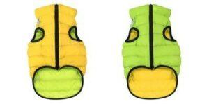 1586 AiryVest Курточка двухсторонняя ЭйриВест, размер S 35, салатово-желтая