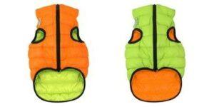 1602 AiryVest Курточка двухсторонняя ЭйриВест, размер S 35, оранжево-салатовая