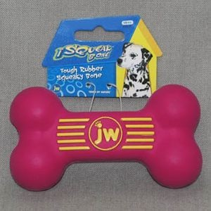 J.W. Игрушка д/собак - Косточка с пищалкой, каучук, маленькая iSqueak Bone Sm