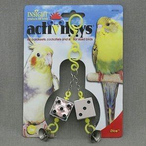JW31030/10303 J.W. Игрушка д/птиц - Кубики зеркальные с колокольчиками, пластик, Dice Toy for birds *3