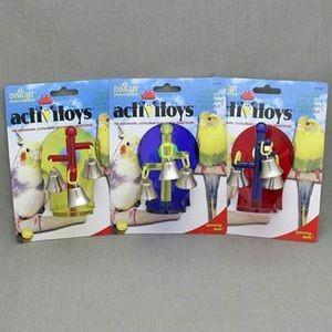 J.W. Игрушка д/птиц - Крутящиеся колокольчики, пластик, Sprinning Bells Toy for birds