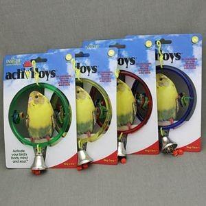 J.W. Игрушка д/птиц - Кольцо с колокольчиком, пластик, Ring Clear Toy for birds