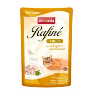 ANIMONDA RAFINE Adult для кошек с домашней птицей в сырном соусе пауч
