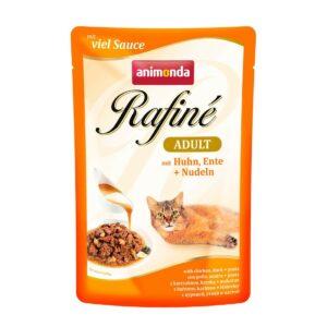 ANIMONDA RAFINE ADULT  консервы для кошек с курицей, уткой и пастой пауч