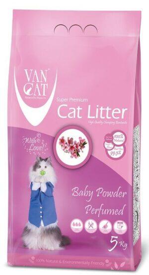 VAN CAT Baby Powder комкующийся наполнитель для кошачьих туалетов без пыли с ароматом детской присыпки