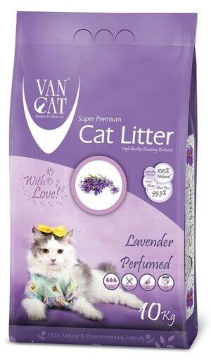 VAN CAT Lavender комкующийся наполнитель для кошачьих туалетов без пыли с ароматом лаванды