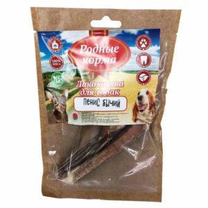 РОДНЫЕ КОРМА  лакомство для собак мелких пород корень бычий особый сушеный в дровяной печи
