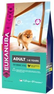 EUK Dog корм для взрослых собак миниатюрных пород 1,5 кг