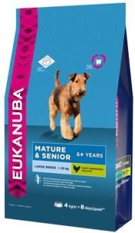EUK Dog корм для пожилых собак крупных пород 4 кг
