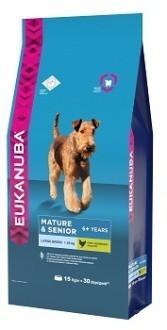 EUK Dog корм для пожилых собак крупных пород 15 кг
