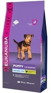 EUK Dog корм для щенков крупных пород 15 кг