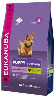 EUK Dog корм для щенков мелких пород 3 кг