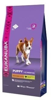 EUK Dog корм для щенков средних пород 15 кг