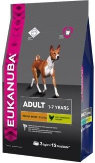 EUK Dog корм для взрослых собак средних пород 3 кг