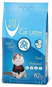 VAN CAT Fresh комкующийся наполнитель для кошачьих туалетов без пыли с ароматом весенней свежести